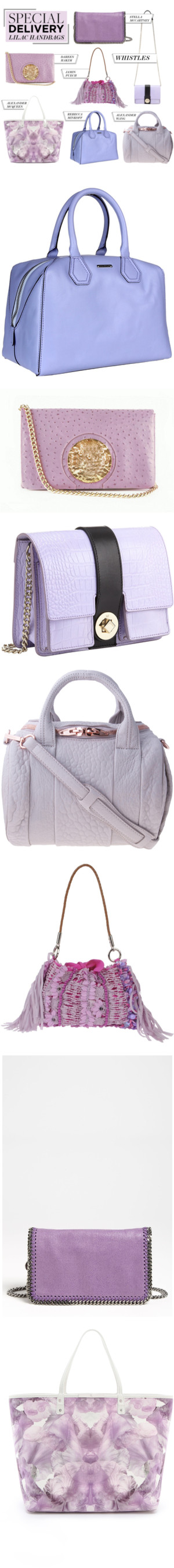 """Special Delivery: 7 Lovely Lilac Handbags"" by polyvore-editorial ❤ liked on Polyvore"