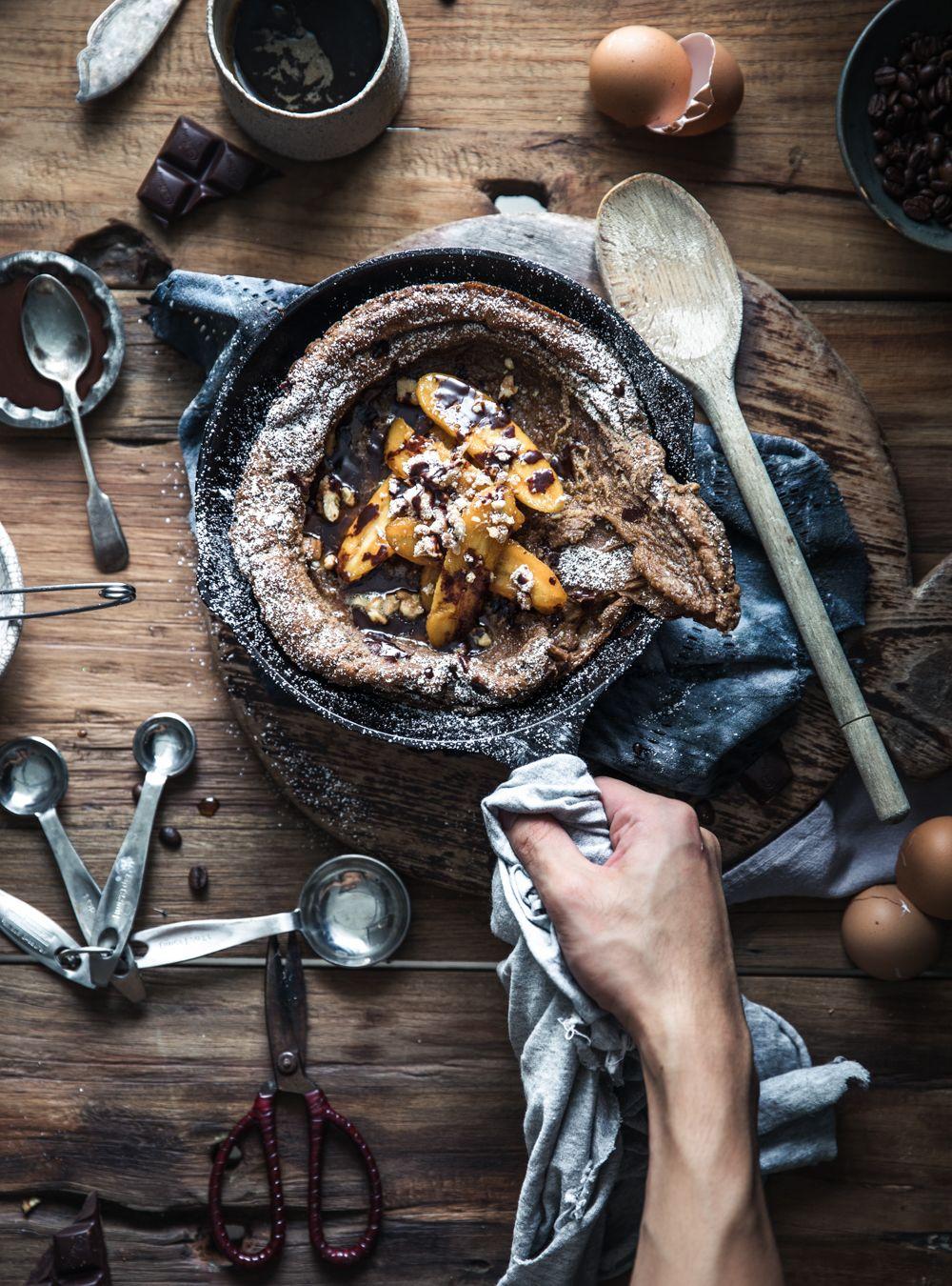 Chocolate Espresso Dutch Baby w/ Caramel Banana & Mocha ...