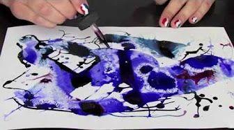 Coller Une Aquarelle Sur Du Bois Youtube Encre Peinture