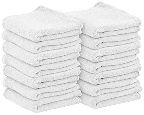 Shop Towels Pack Of 100 13 X 13 Inches Commercial Grade Machine Washable Cotton Washcloths Lint Free White Shop Rag Shop Towels Washing Clothes Cleaning Rags