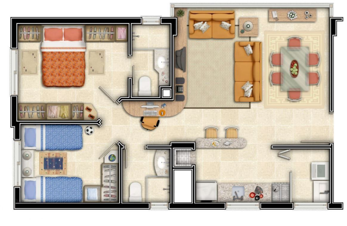 Plano de casa para terreno de 100 metros cuadrados for Diseno de apartamento de una habitacion