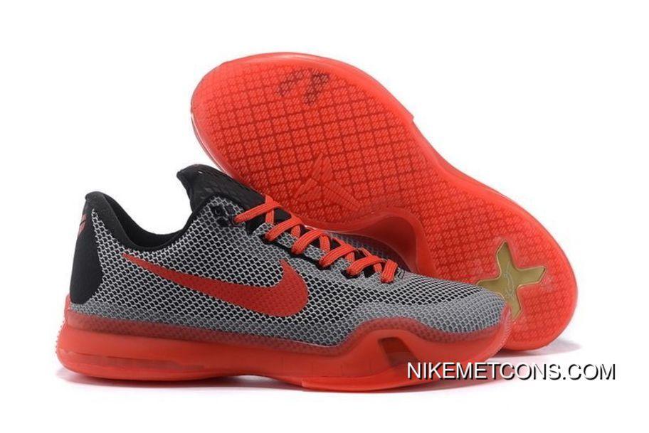 newest e8ba6 974ea Super Deals Nike Kobe 10 Grey Red Black New