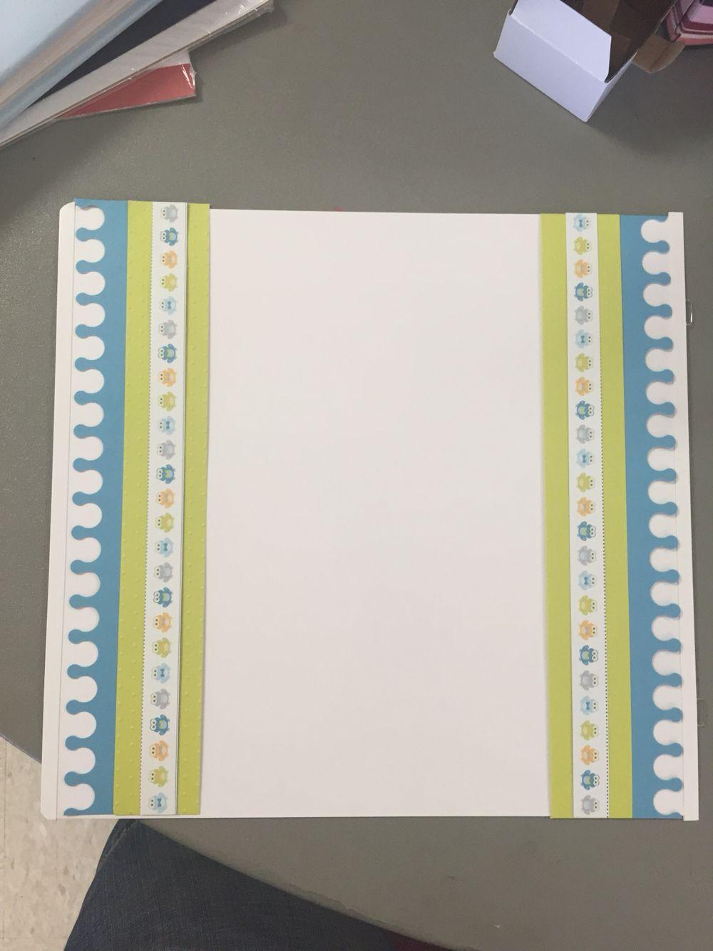 Scrapbook border ideas - Scrapbook Border I Made Using The Creative Memories Crown Border Cartridge