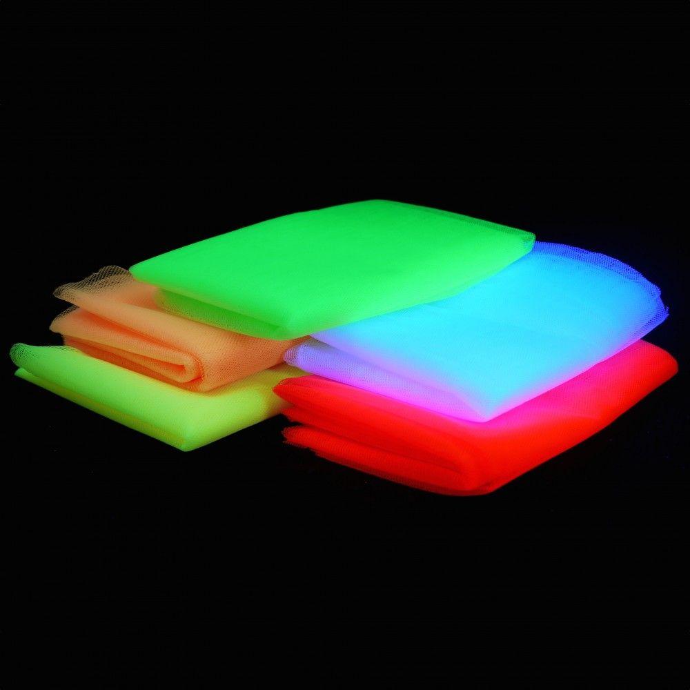 Neon Uv Tull 6 Farben Set Schwarzlicht Party Schwarzlicht Leuchtstabe