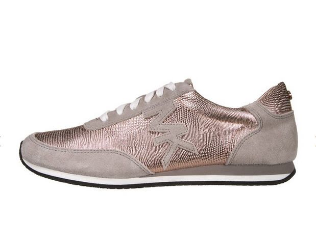 michael michael kors stanton trainer baskets basses rose gold pearl grey prix promo baskets. Black Bedroom Furniture Sets. Home Design Ideas