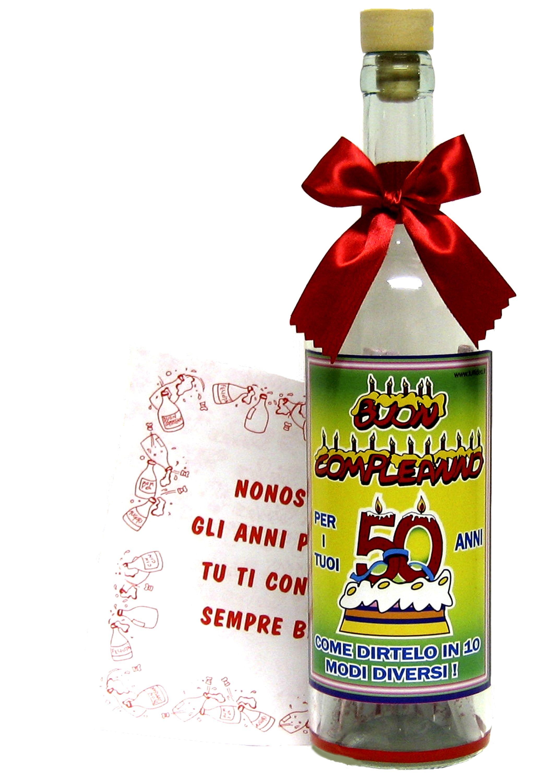 Bottiglia Messaggi 50 Anni Prodotti E Articoli Regalo Per Tutte Le