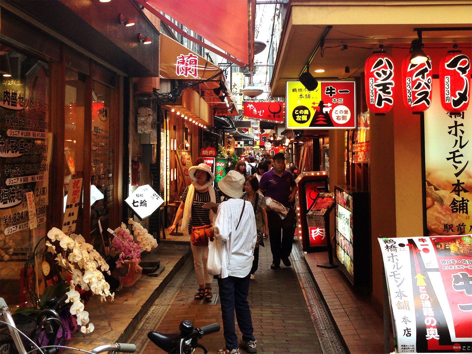 鶴橋 大阪 tsuruhashi korean town in osaka 下町風景 pinterest