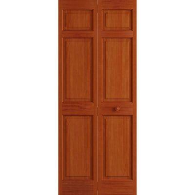 Frameport Paneled Manufactured Wood Painted Bi Fold Door Finish Cherry Door Size 80 H X 36 W X 1 37 D Bifold Doors Wood Barn Door Glass Barn Doors