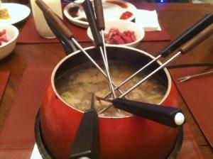 Fondue – Court Boullion Broth - another great recipe on rantingchef.com #brothfonduerecipes