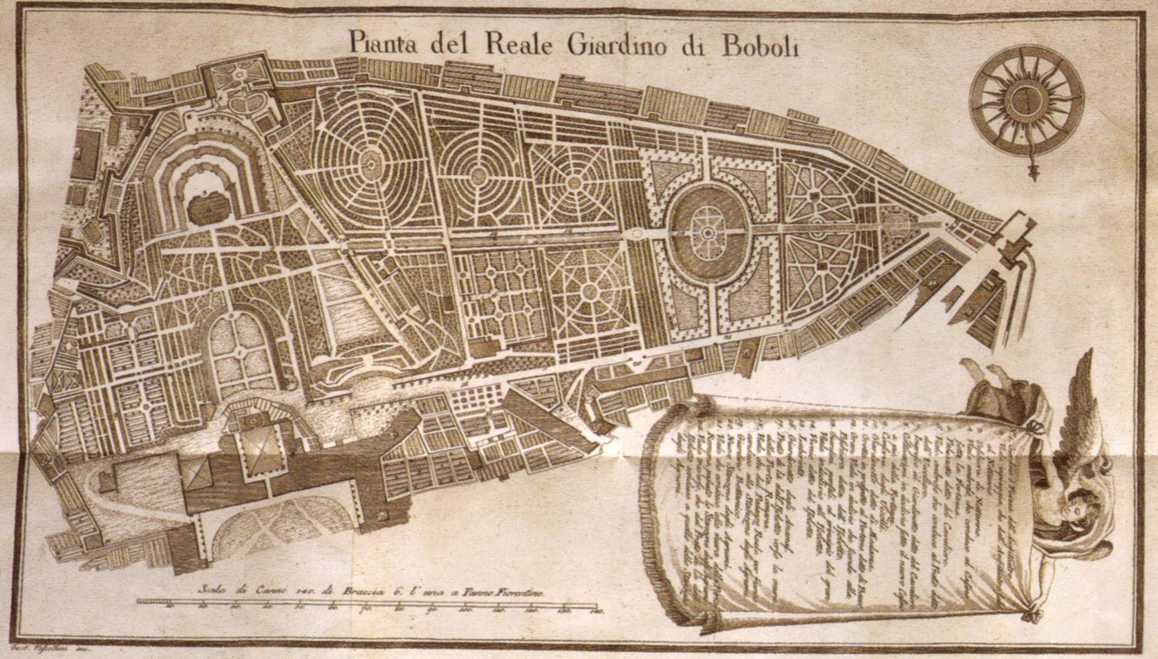 Firenze antica pianta del giardino di boboli florence for Design del giardino