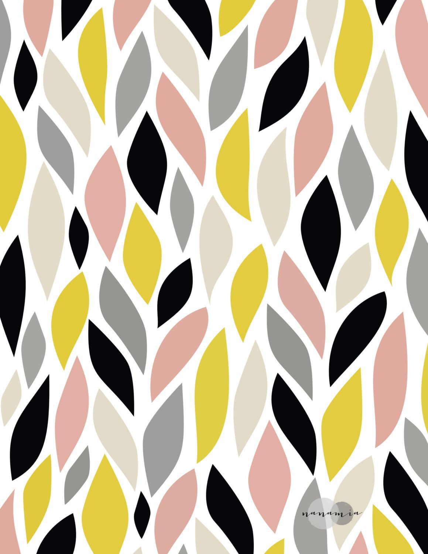 Pattern Print Printable Art Geometric Wall Art от nanamiadesign | 1 ...