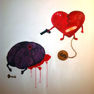 Heart Vs Brain by Sue Tsai constant battle of passion and reality