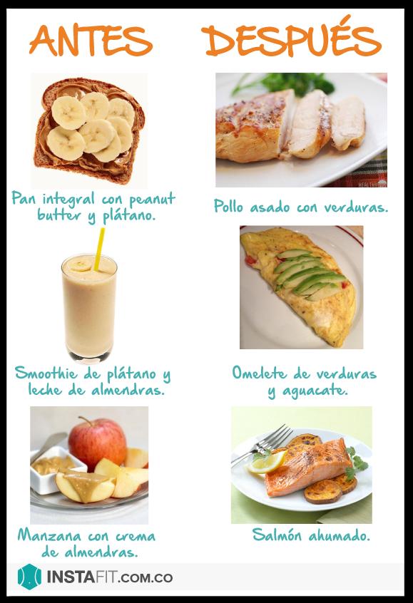 comer despues del ejercicio para adelgazar
