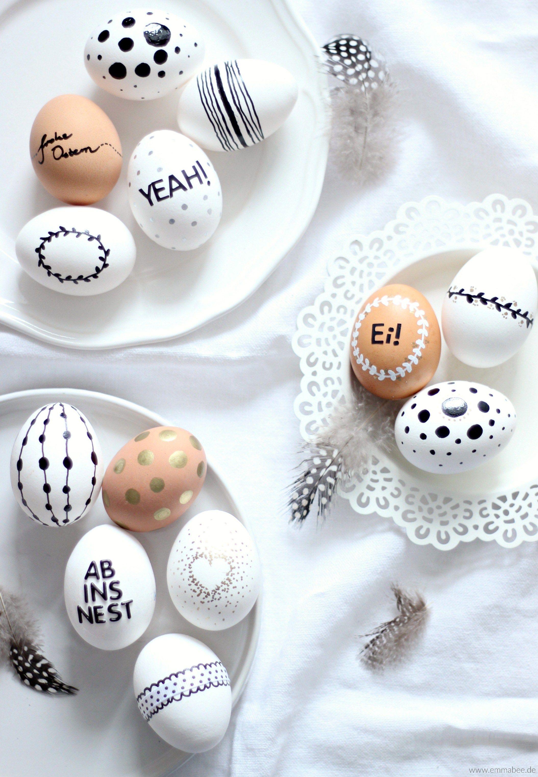 diy ostereier bemalen oster deko ostern eier ostern und diy ostern. Black Bedroom Furniture Sets. Home Design Ideas