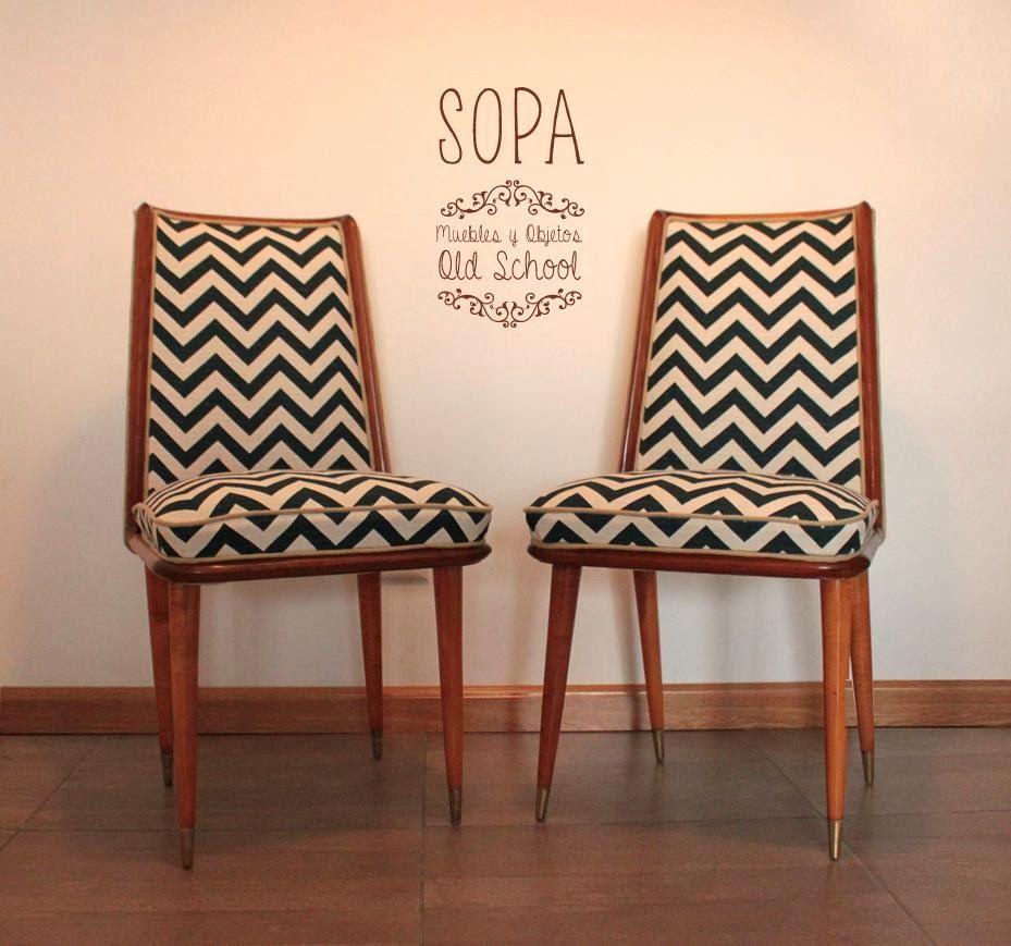 Sillas escandinavas dise o chevron productos sopa for Sillas antiguas tapizadas modernas