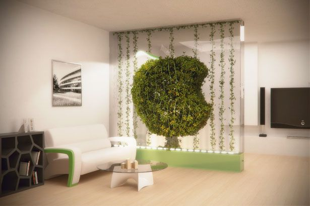 aside from making your home looks great, this green partition