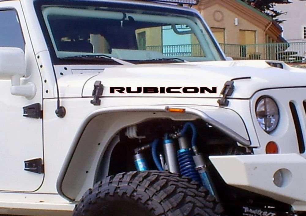 Jeep YJ Wrangler Decal stickers hood door fender YJ rubicon