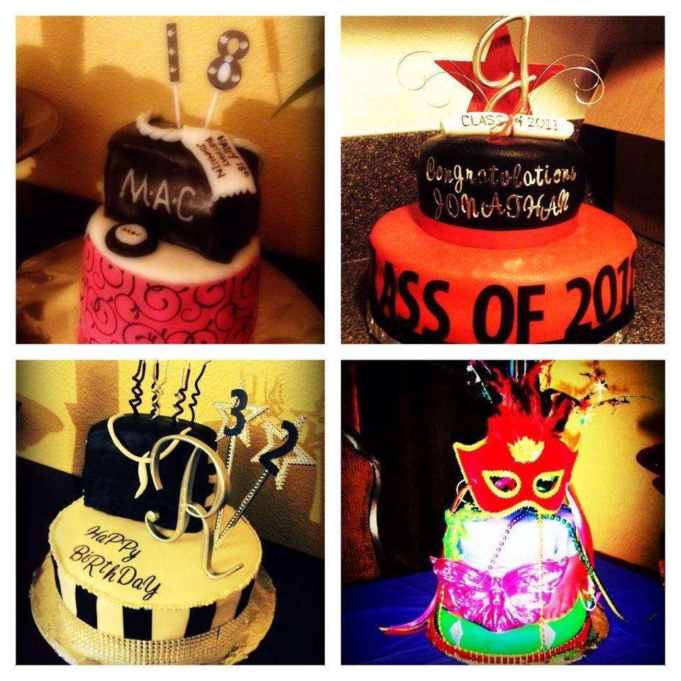 mac cake, grad cake, sephora cake, mardi gras | cakes | pinterest