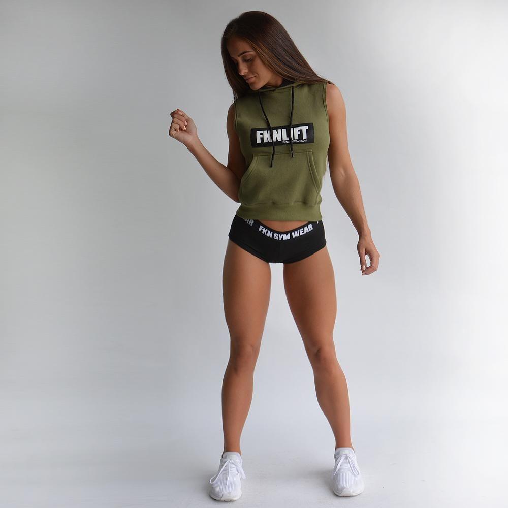 df5fe667 FKN Gym Wear FKNLIFT Sleeveless Hoodie - Khaki | Sleeveless Hoodies ...