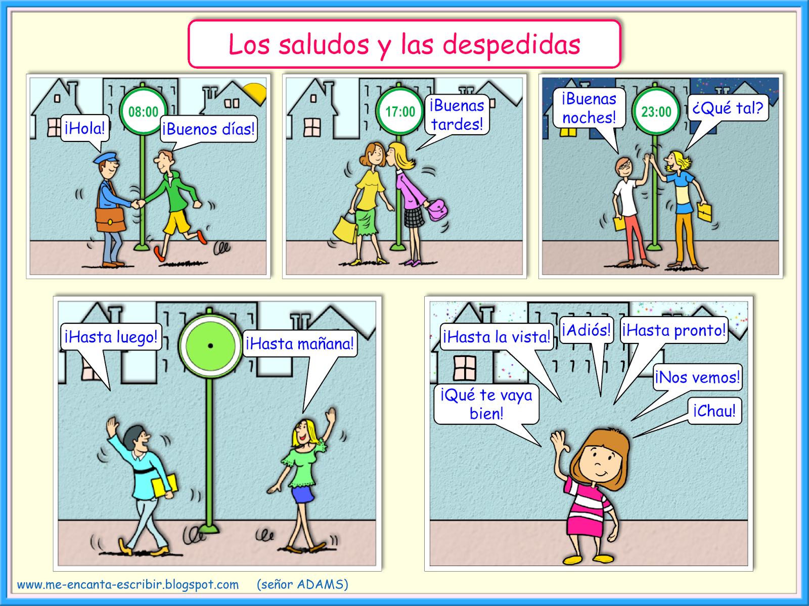 Me Encanta Escribir En Espanol Los Saludos Y Las Despedidas