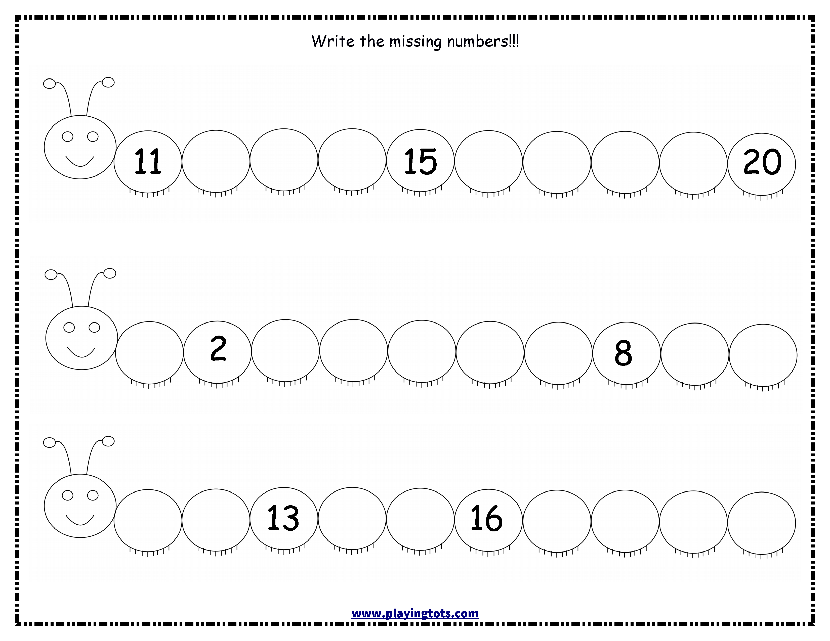 Worksheet Write Missing Numbers Caterpillar Keywords Free Prin Number Worksheets Kindergarten Winter Math Worksheets Pattern Worksheets For Kindergarten