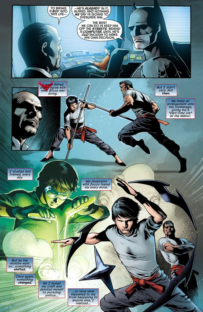 young grayson training with bruce dc comics pinterest