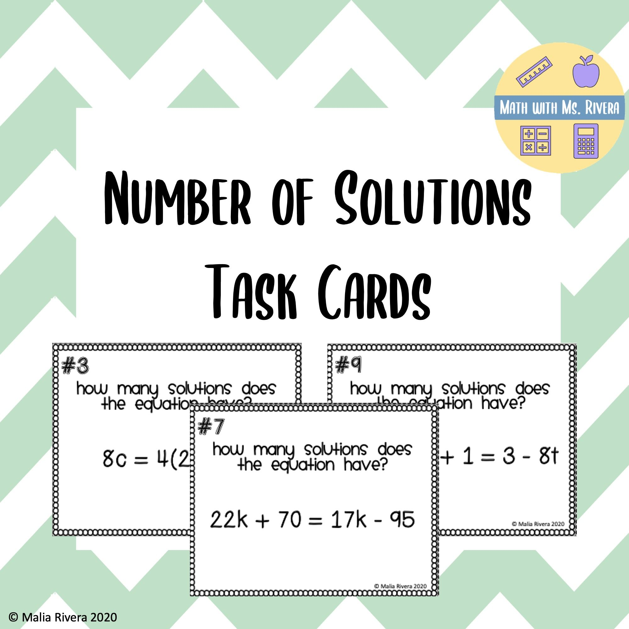 Number Of Solution Task Cards In