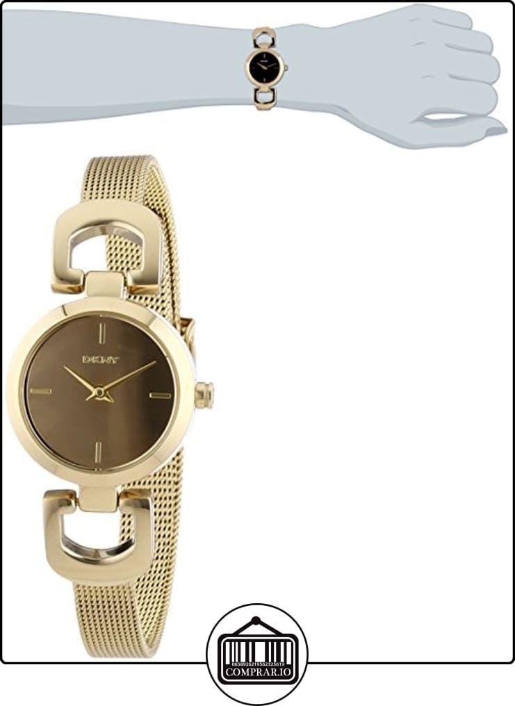 DKNY  0 - Reloj de cuarzo para mujer, con correa de acero inoxidable, color dorado  ✿ Relojes para mujer - (Gama media/alta) ✿