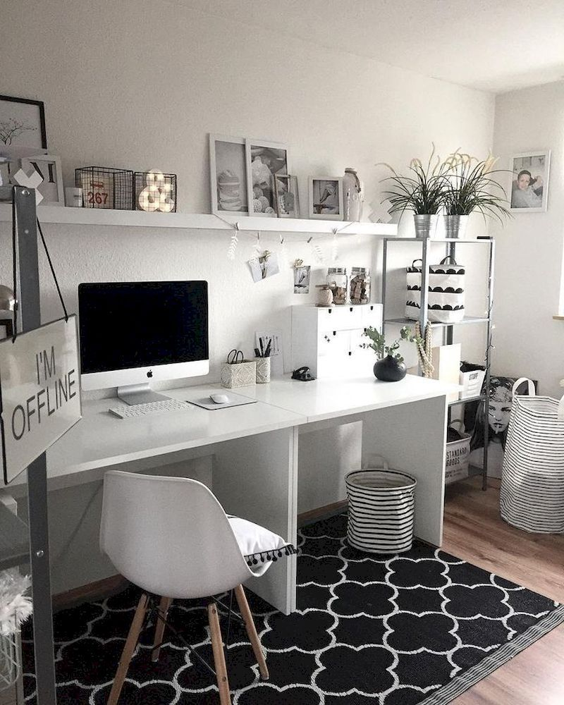 34 Cozy Monochrome Home Office Decor Ideas in 2019 images