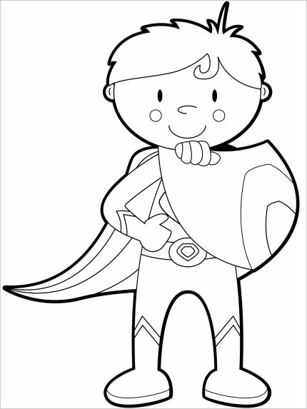 Super boy Colouring In | Art Doodles/ colouring pages/ lines | Pinterest