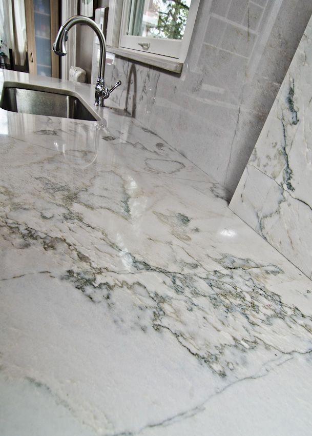 White Quartzite Calacatta Countertops Calacatta White