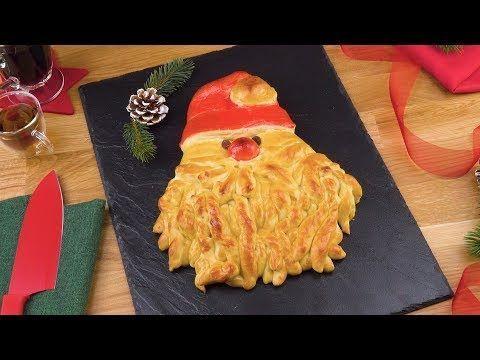 Weihnachtsmann-Hefezopf ist ein Brot-Rezept in ganz besonderer Optik.