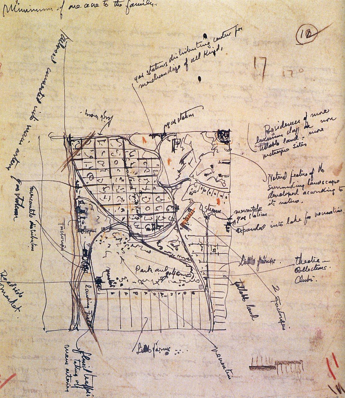 Frank Lloyd Wright Broadacre City Sketch 1934 35 City Sketch Frank Lloyd Wright Lloyd Wright