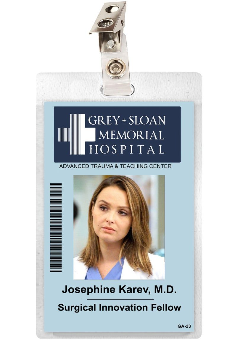 Halloween 2020 Expedite Meme Grey's Anatomy JO KAREV Sloan Memorial Hospital ID Badge | Etsy in