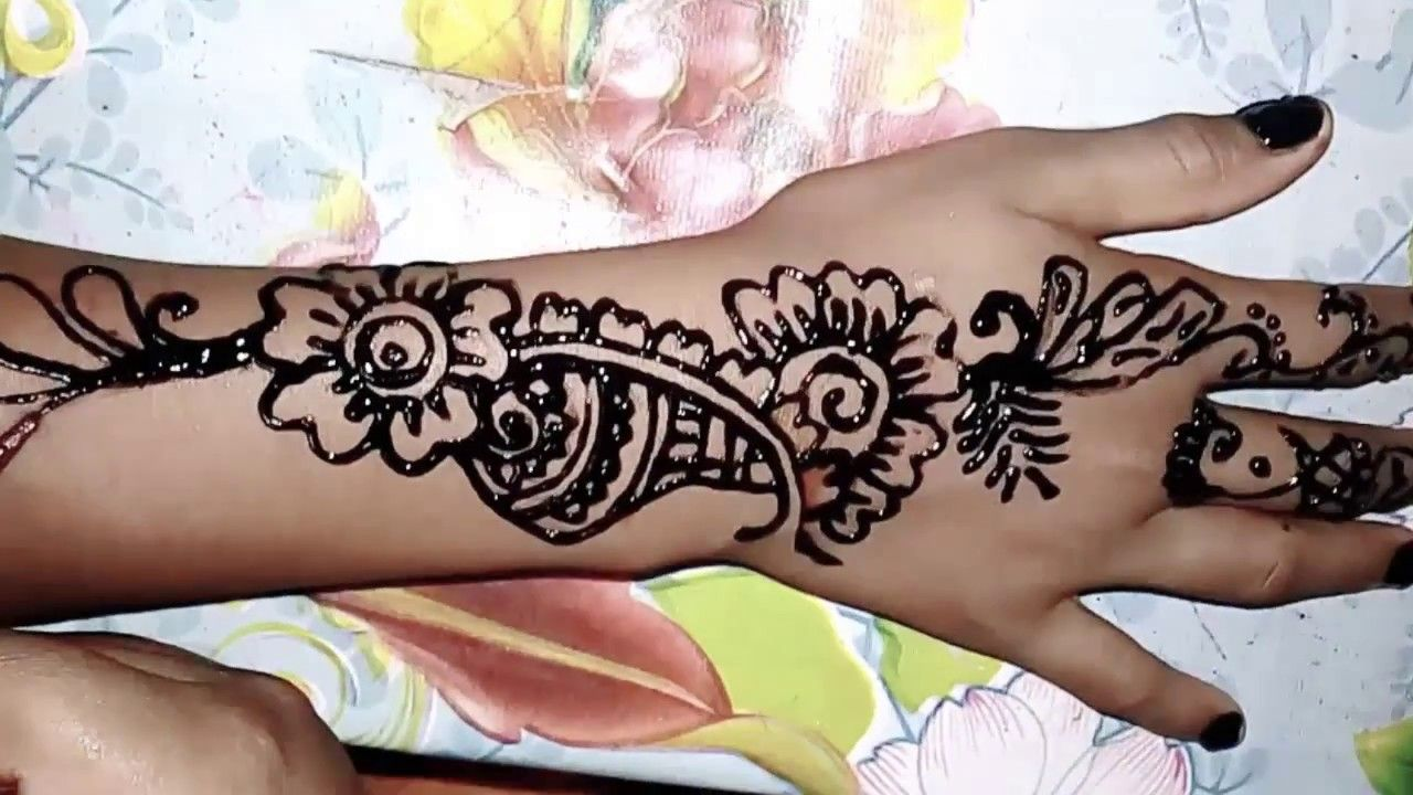 Mehndi For Thin Hands : Simple mehndi design how to apply henna gradually