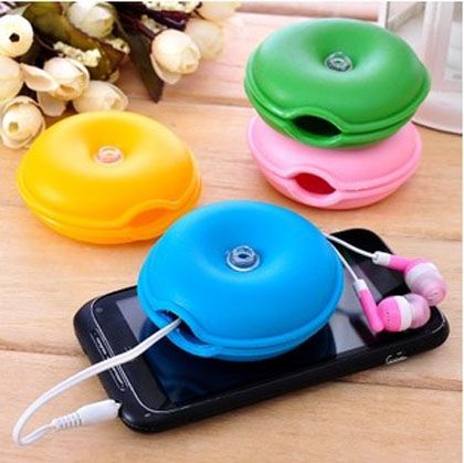5x Turtle Cable Cord Organizer Wrap Wire Winder Earphone Headphone Holder Useful