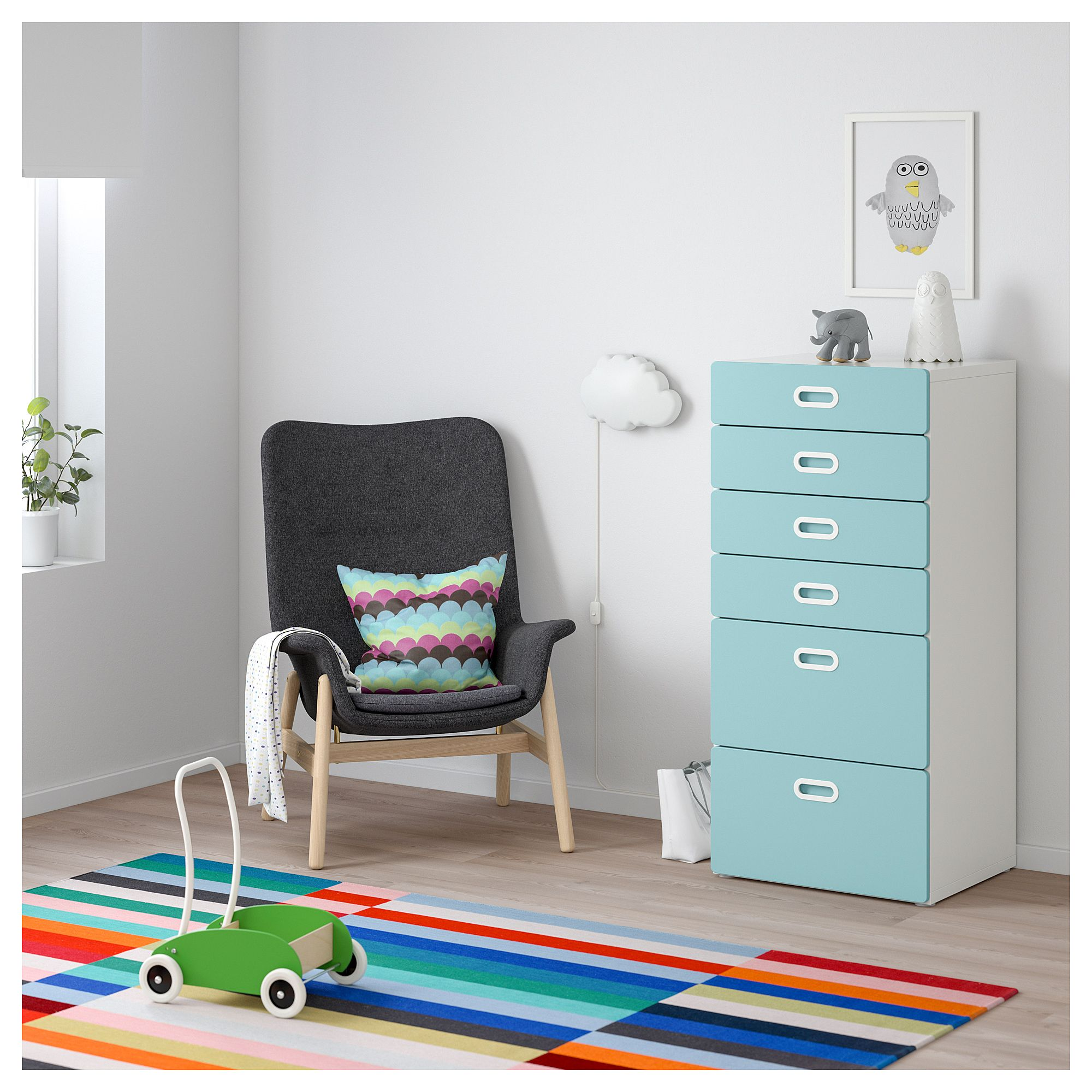 Stuva Lit Ikea Stuva Fritids 6 Drawer Chest White Light Blue Products