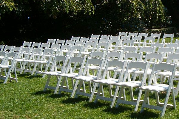 Image Of A White Padded Garden Chair White Garden Chairs With