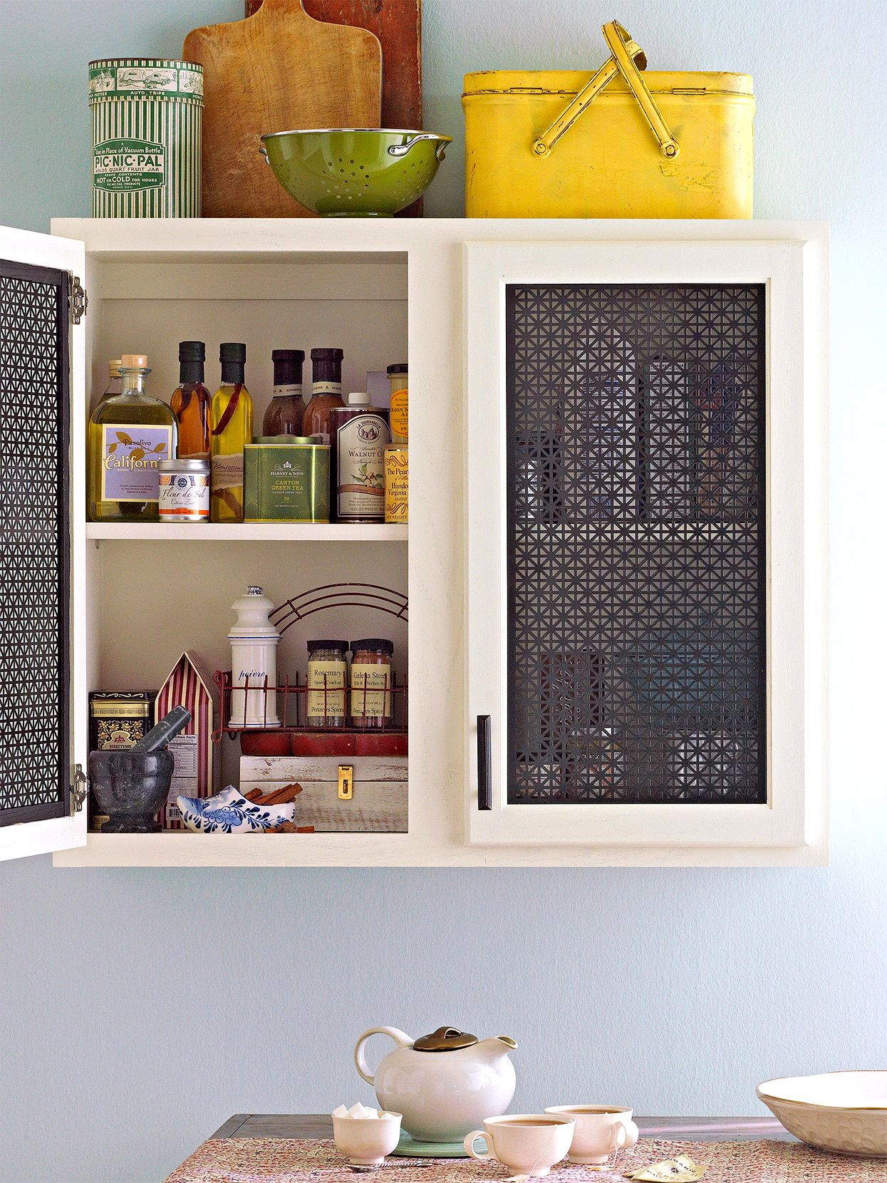 26 Diy Ways To Update Your Kitchen Cabinets Without Replacing Them In 2020 Metal Kitchen Cabinets Update Cabinets Cabinet Makeover