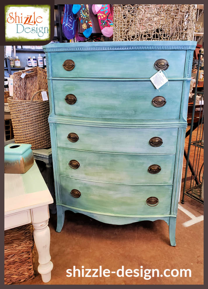 Easy Blended Paint Finish on an an Antique Highboy Dresser ...