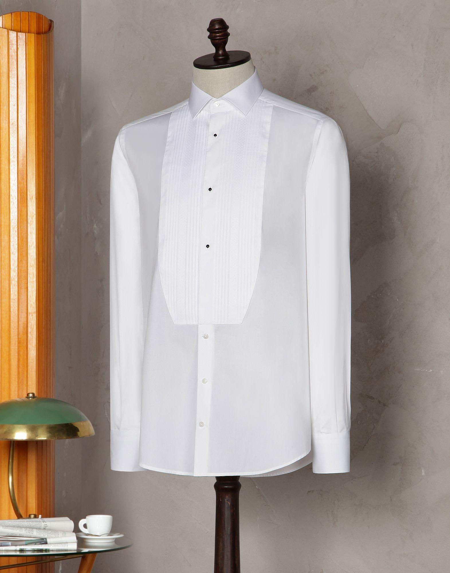 Camicia tuxedo fit gold plastron plisse  Uomo - Camicie - Dolce   Gabbana  Group a655c9d1db4
