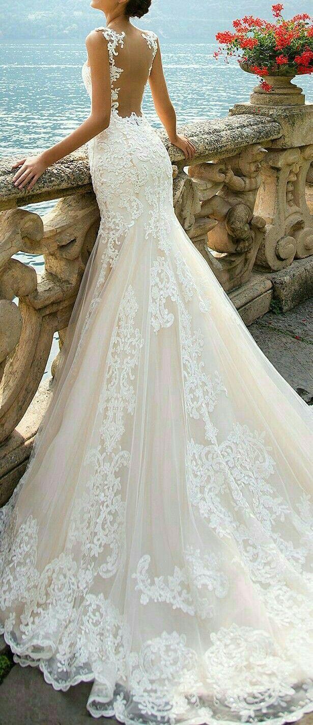Pin By Sydney Chavers On Wedding Dresses Backless Mermaid Wedding Dresses Wedding Dresses Casual Wedding Dress