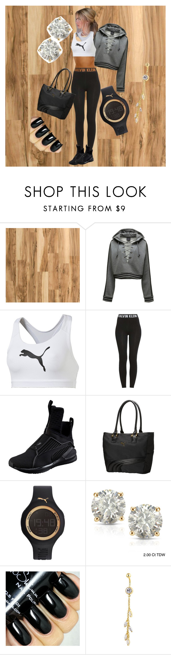 """Be like Ri"" by boopreski ❤ liked on Polyvore featuring Home Decorators Collection, Puma, Calvin Klein and Auriya"