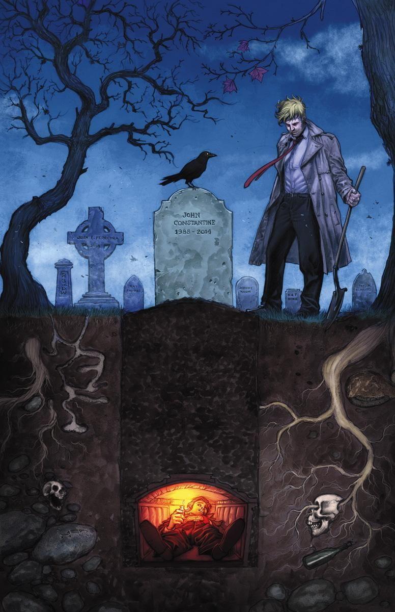 Constantine #22 cover by Juan Ferreyra Hellblazer, born may 10, 1953