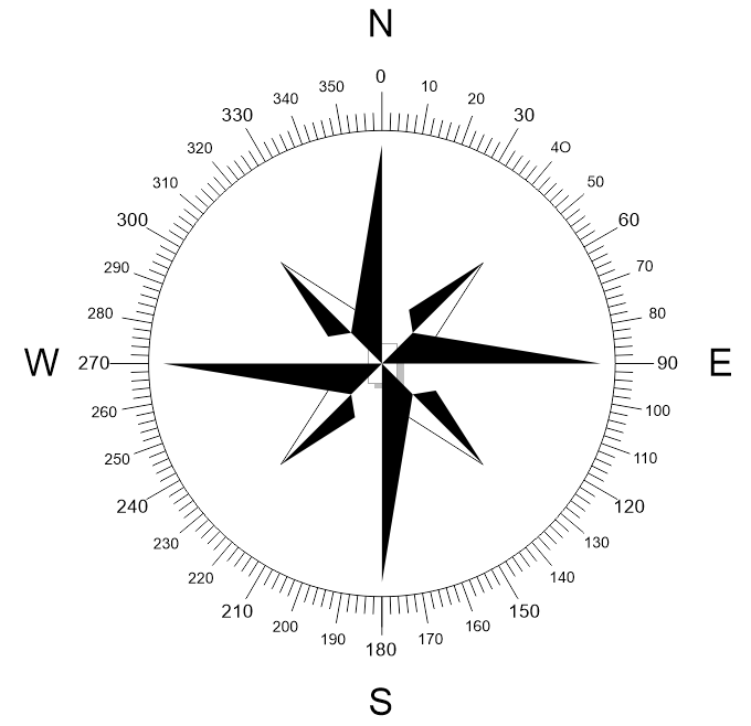 North Arrow Vector Compass Dxf File Free Vector Vector Free Dxf Free Vector Files