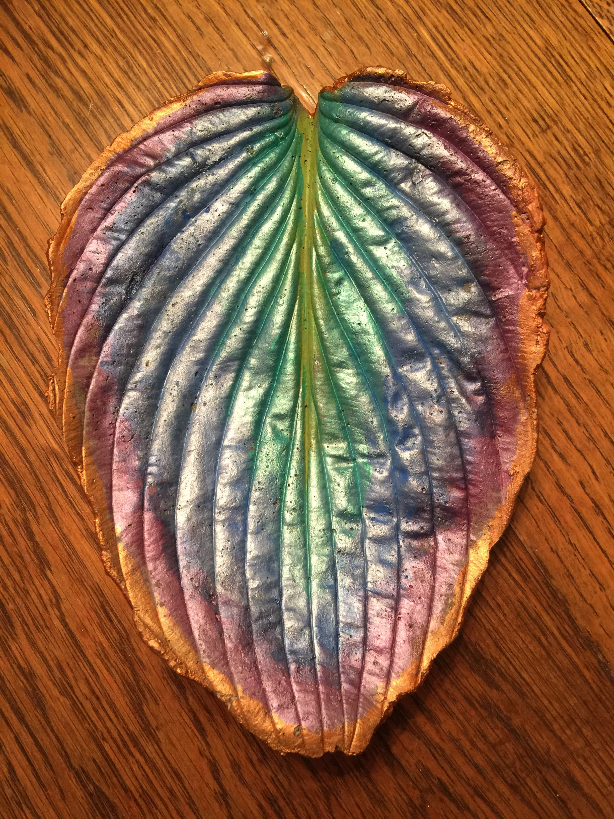 Small Hosta 332 15 Cement Leaves Concrete Leaves Bird