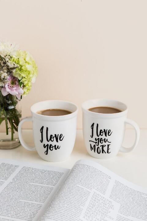8e59a76eee7 Love You More Mug Set   But First, Coffee   Mugs, Mugs set, Couple mugs