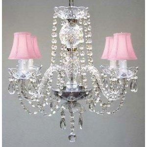 "All Chandelier Chandeliers With Shades H17"" X W17"" Swag Plug In-..."