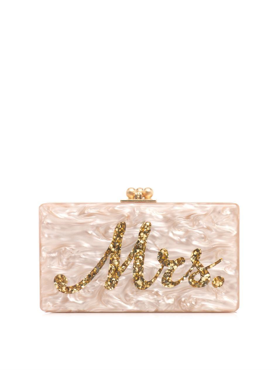 a6796d7e86ed Your wedding bag xx. Mrs. box clutch