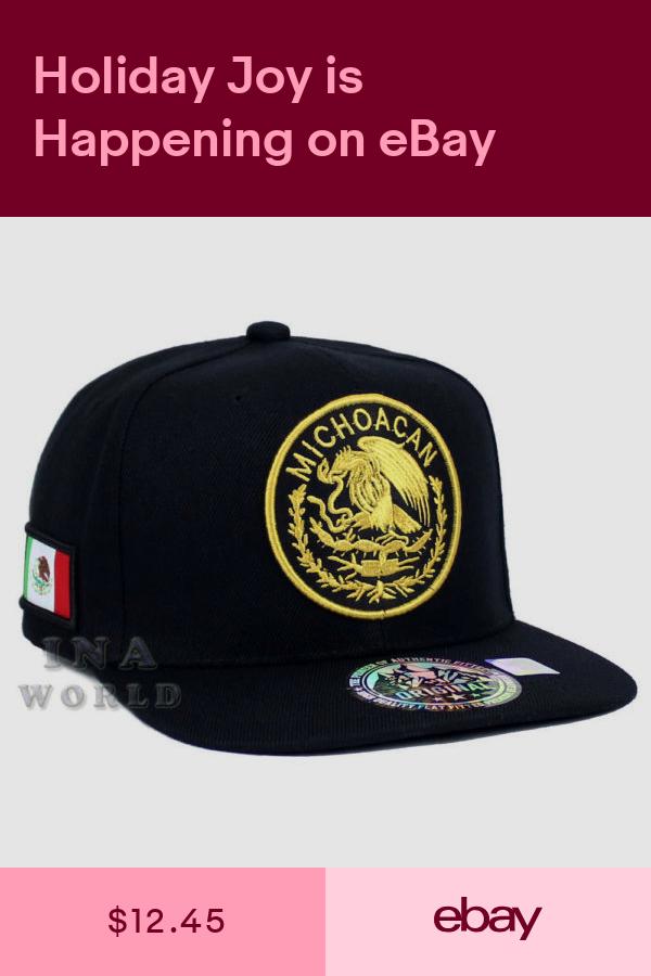 Mexican Hat Mexico Federal State Logo Snapback Flat Bill Baseball Cap Michoacan Hats Embroidered Baseball Caps Cap